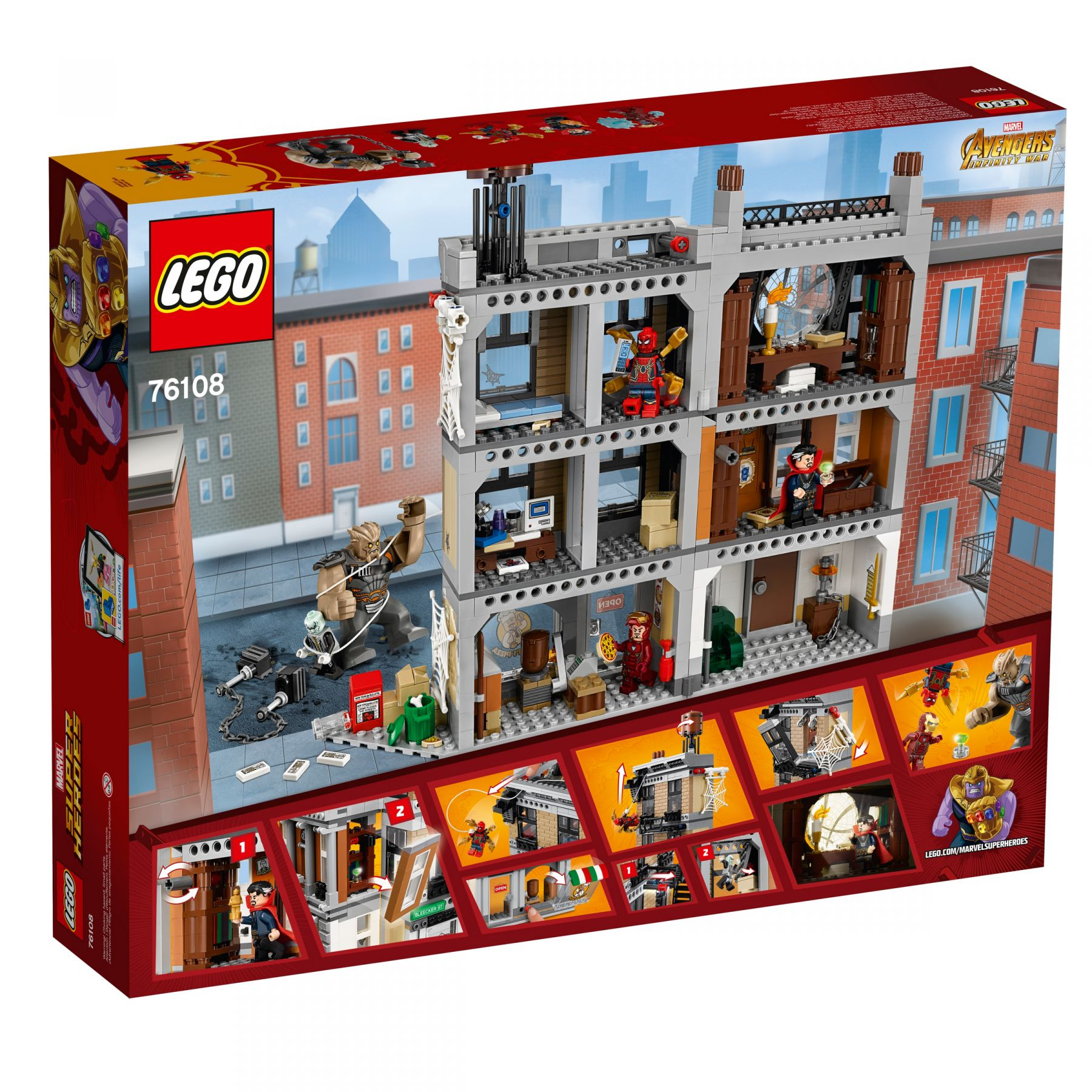 27 ab 72 99 sanctum sanctorum der showdown 76108 lego super heroes 2018 im. Black Bedroom Furniture Sets. Home Design Ideas