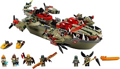 LEGO Legends Of Chima 70006 Craggers Croc-Boot Zentrale