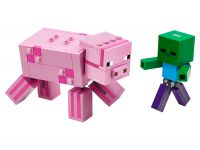 LEGO Minecraft 21157 Pig with Zombie Baby